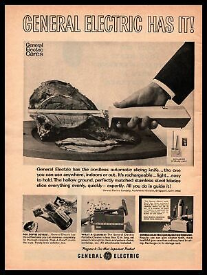 $ CDN14.03 • Buy 1965 General Electric  Has It  Cordless Automatic Slicing Knife Vintage Print Ad