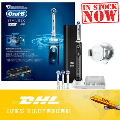 AU307.21 • Buy Oral-B Genius 9000 Black Electric Rechargeable Toothbrush DHL Express Shipping