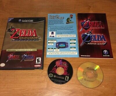 $79.95 • Buy Legend Of Zelda Windwaker & Ocarina Master Quest Combo - GameCube - 2 Game Disc