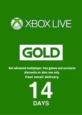 $4.49 • Buy Xbox Live 14 Day Gold & Game Pass Ultimate Fast Email Delivery 24/7 Stay Home