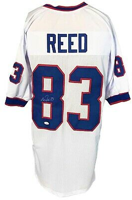 $ CDN1.40 • Buy Andre Reed Autographed Pro Style White Jersey JSA Authenticated