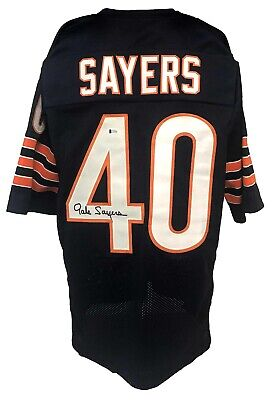 $ CDN1.40 • Buy Gale Sayers Autographed Pro Style Blue Jersey BECKETT Authenticated