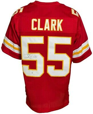 $ CDN1.40 • Buy Frank Clark Autographed Pro Style Red Jersey BECKETT Authenticated