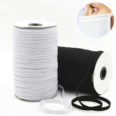 $ CDN2.91 • Buy 5Yds Elastic Band Rope Stretch String Braided Cord Rubber Tape DIY Making Sewing