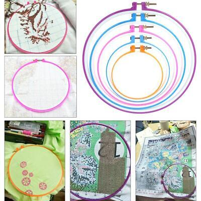 5x Plastic Hand Embroidery Hoop Ring Cross Stitch Machine Craft Sewing Frame Set • 7.78£