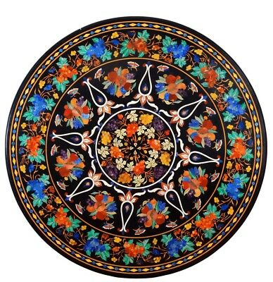 AU3890.39 • Buy 48  Round Marble Center Dining Table Top Inlay Pietra Dura Home Decor