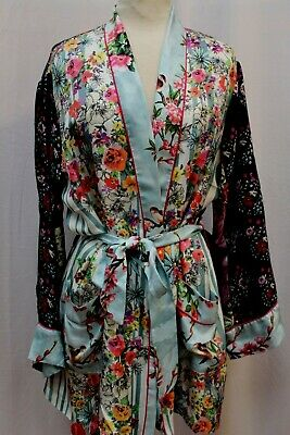 $149.99 • Buy NEW Johnny Was JWLA 3J Workshop Biya Meadow Robe Belted Wrap Kimono Jacket XL