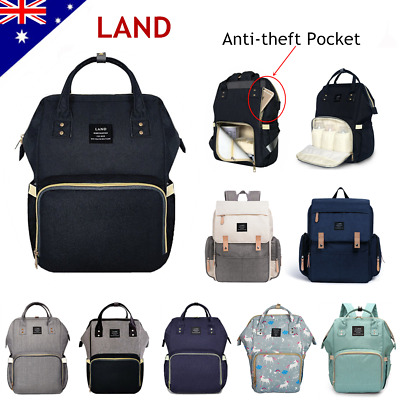 AU34.05 • Buy GENUINE LAND Large Multifunctional Baby Diaper Nappy Backpack Mummy Changing Bag