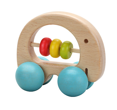 Classic World - Wooden Elephant Rattle Clutch Toy And Push Along Toy • 6.50£