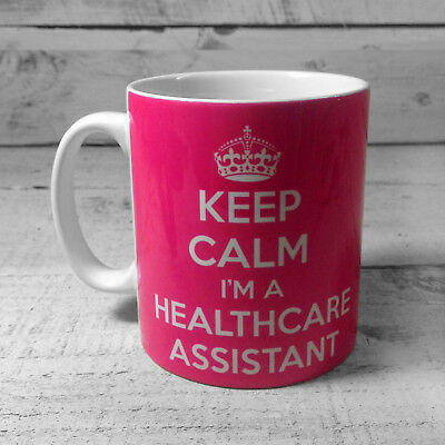 Keep Calm I'm A Healthcare Assistant Gift Mug Cup Carry On Work Nurse Nhs Hca • 8.99£