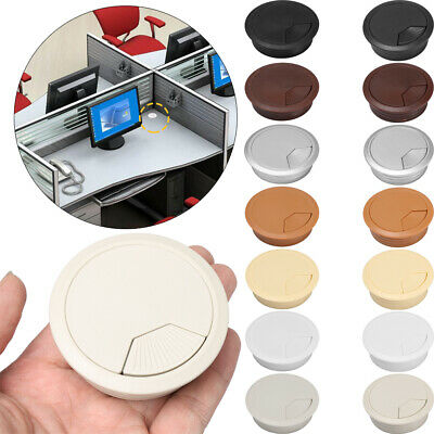 60/80mm PC Computer Desk Plastic Grommet Table Cable Tidy Wire Hole Cover • 3.32£