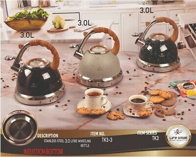 AU58 • Buy Stainless Steele Stove-top Kettle, 3.0 L Whistling Stove Kettle