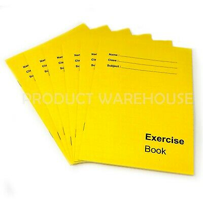 6 X A5 Exercise Books School Notebook Children Homework Handwriting Lined Pages • 3.95£