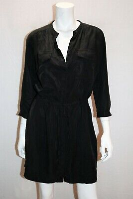 AU20 • Buy MANGO Brand Black Button Front 3/4 Sleeve Shirt Dress Size M LIKE NEW #AN02