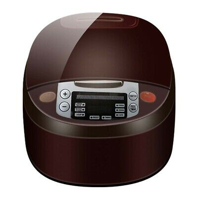 AU79.90 • Buy 8 In 1 Electric Rice Cooker & Multicooker 5L Non-Stick 900W Chocolate