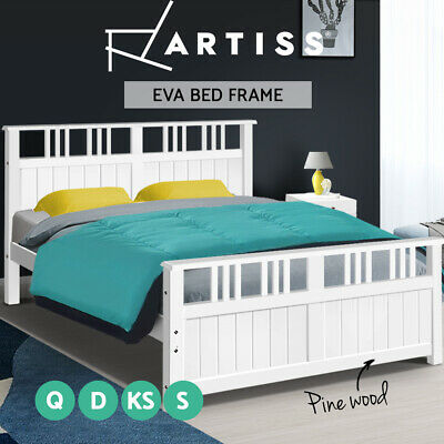 AU189.95 • Buy Artiss Bed Frame Queen Double King Single Size Wooden Timber Mattress Base