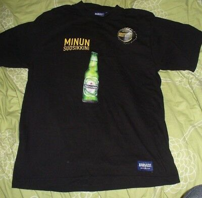 M-size T-shirt Advertising Heineken Brewery Company Beer From Finland • 4.76£