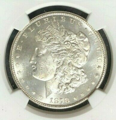 $105 • Buy 1878-s Morgan Silver Dollar~ngc Ms 64 ~beautiful Coin~ Ref#13-013