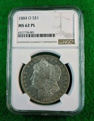 $78.95 • Buy 1884-O Morgan Silver Dollar NGC MS62 PL  #4327778-001
