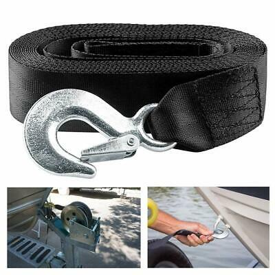 AU19.99 • Buy 6Mx50mm Winch Strap Cable Tow Strap Lines 3300lbs W/Durable Hook For Car Boat AU