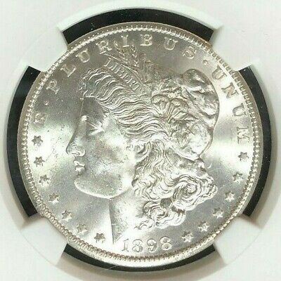 $65 • Buy 1898-o Morgan Silver Dollar~ngc Ms 64 ~beautiful Coin~ Ref#96-004