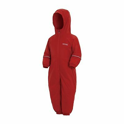 Regatta Kids Splosh III Breathable Insulated Waterproof Puddle Suit - Red Pepper • 33.95£