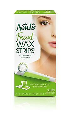 $6.60 • Buy Wax Strips Hypoallergenic All Skin Types Facial Hair Removal 20 Face Wax Strips