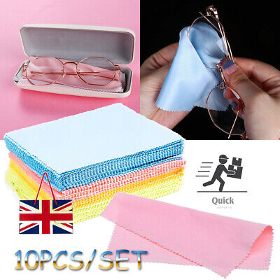10 Microfiber Micro Fibre Cleaner Glasses Sunglasses Camera Lens Cleaning Cloth • 2.68£