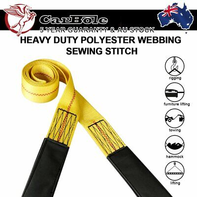 AU17.99 • Buy Nylon Winch Strap Web Flat Lifting Sling Tow  Heavy Duty Polyester Loop End 6 Ft