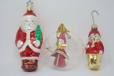 $ CDN22.73 • Buy Vintage Christmas Ornaments Lot 3 West Germany Figural Glass Santa Child Ball