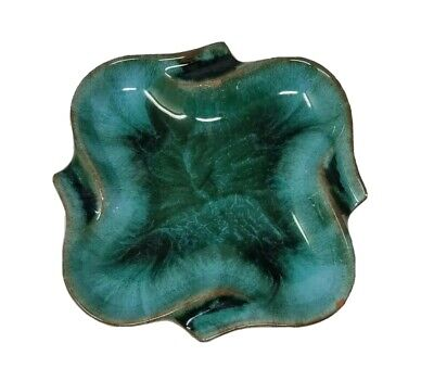 $ CDN12.99 • Buy Blue Mountain Pottery Square Ashtray Dish 5 Inch  With Rounded Corners AS IS