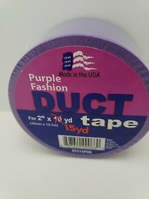 $5 • Buy DESIGNER DUCT TAPE Purple 15 YARDS: 2   FOR ARTS, CRAFTS &  DECOR. USA.