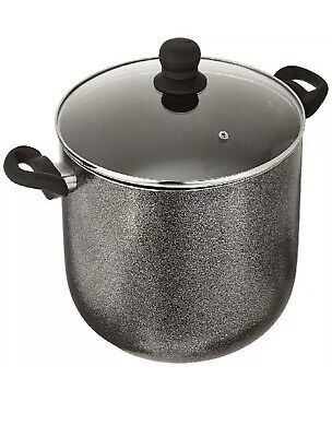 $39.99 • Buy IMUSA USA 10-Quart Charcoal Nonstick Stock Pot With Glass Lid