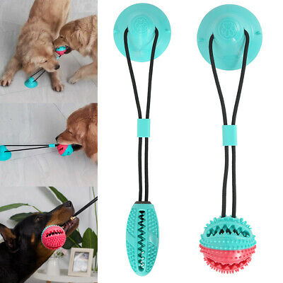 AU23.40 • Buy Dog Chew Toy Pet Rubber Ball Toy With Suction Cup  Self-playing Durable Molar AU