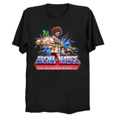 $17.99 • Buy Master Of Happy Accidents Bob He-Man Masters Of The Universe Funny Black T-Shirt