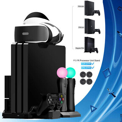 AU52.18 • Buy Vertical Stand, Cooling Fan, Controller Charger Showcase For PS4 VR PS4 Pro Slim