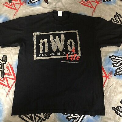 $ CDN125.31 • Buy New World Order NWo 4 Life  Mean People Rule  T-Shirt Men's XL Original WCW