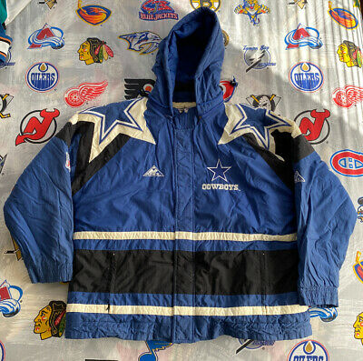 $74.99 • Buy Dallas Cowboys Men's Jacket Blue Quilted NFL Coat Pro-Line Apex One XL [Hooded]