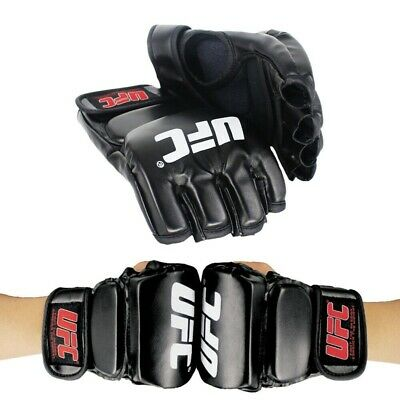 $ CDN21.02 • Buy UFC Gloves MMA Fighting Training Sparring Boxing Gloves Half Finger Black