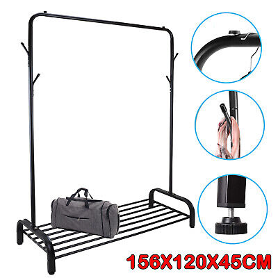 Heavy Duty Metal Clothes Rail Hanging Rack Shop Display Stand W/ Storage Shelves • 25.59£