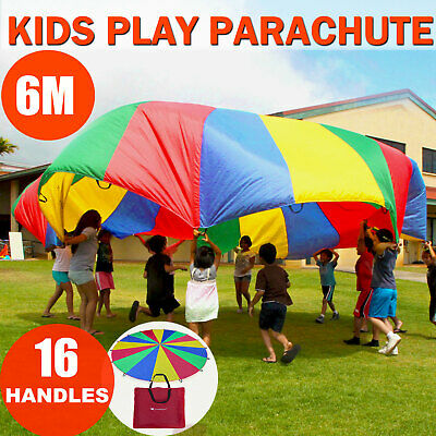 £25.99 • Buy 6M Large Kids Play Parachute Children Rainbow Outdoor Game Exercise Sport Toy