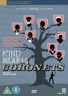 KIND HEARTS AND CORONETS (1949) DVD * NEW * SEALED * FREE 1st CLASS P&P * UK R2 • 10£