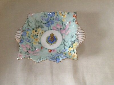 Shelley Melody Chintz Auxiliary Territorial Service British Army 5  Nut Dish • 59.99£