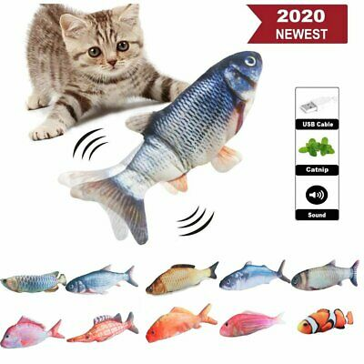 AU16.69 • Buy Electric Wagging Fish Cat Toy Realistic Plush Simulation Catnip 32-35CM Kids Toy