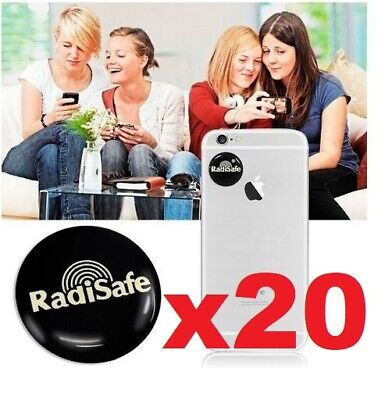 X20 EMF Protection Quantum  Anti Radiation Laptop Phone Mobile Sticker RADISAFE • 19.95£