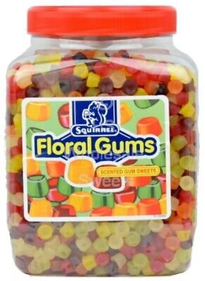 Original Floral Gums Squirrel Scented Hard Gum Retro Sweets Shop Candy 100g • 1.99£