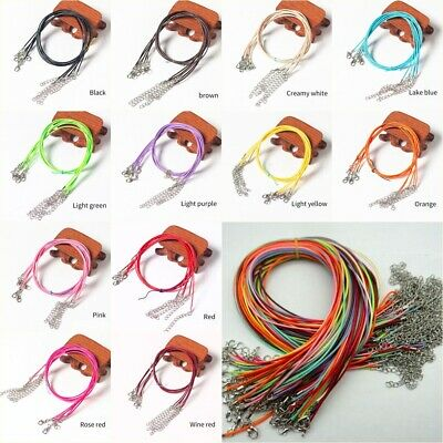 Great Quality Leather Cord With Clasp Necklace String For Pendants- Many Colors • 4.99£