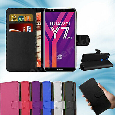For Huawei Y7 2018 Phone Case Luxury Leather Magnetic Flip Wallet Stand Cover • 3.99£