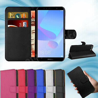 Huawei Y6 2018 2019 Phone Case Luxury Leather Magnetic Flip Wallet Stand Cover • 3.99£