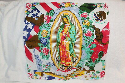 £6.06 • Buy Bandana Guadalupe Virgin Mary American Mexican Flag Eagle Rose ( Set Of 3 )